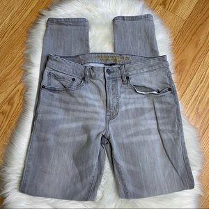 American Eagle Slim Taper Grey Jeans Stretch Sz 31